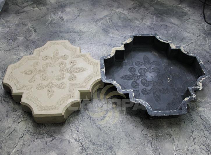 форма и тротуарная плитка